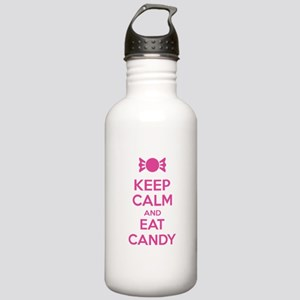 Keep calm and eat candy Stainless Water Bottle 1.0