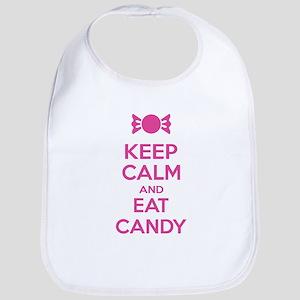 Keep calm and eat candy Bib