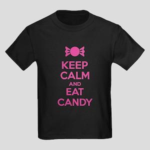 Keep calm and eat candy Kids Dark T-Shirt