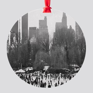 Central Park Ice Skating Ornament (Round)