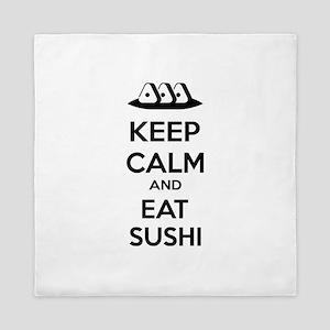 Keep calm and eat sushi Queen Duvet