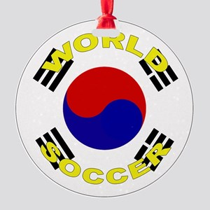 South Korea World Cup Ornament (Round)