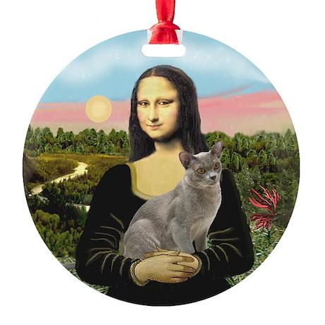 Mona's Burmese cat Ornament (Round)