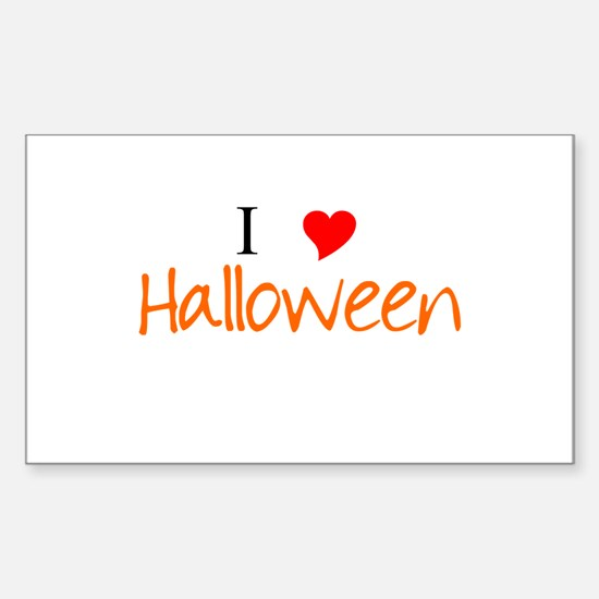I Heart Halloween Sticker (Rectangle)