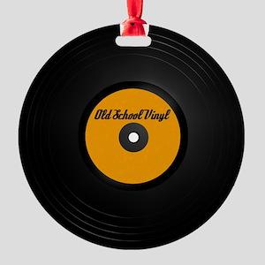 Old School Vinyl Record Ornament (Round)