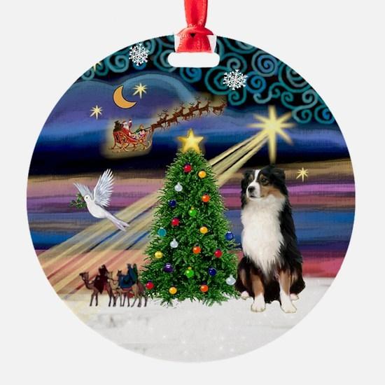 Xmas Magic & Aussie (#2) Ornament (Round)