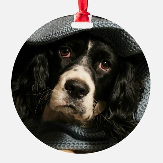 Mischievous Pup Ornament (Round)