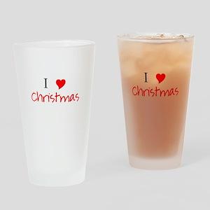 I Heart Christmas Drinking Glass