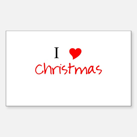I Heart Christmas Sticker (Rectangle)