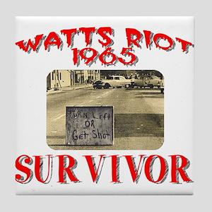 1965 Watts Riot Survivor Tile Coaster