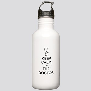 Keep calm I'm the doctor Stainless Water Bottle 1.