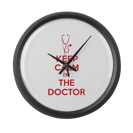 Keep calm I'm the doctor Large Wall Clock
