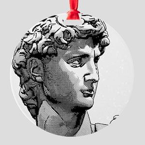 HEAD OF DAVID Ornament (Round)