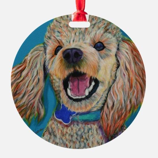 Lil' Poodle Ornament (Round)