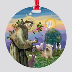 St Francis & Glen of Imaal Ornament (Round)