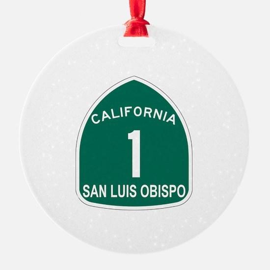 San Luis Obispo, California H Ornament (Round)