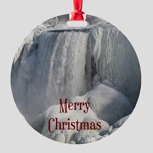 Niagara Falls Merry Christmas Ornament (Round)