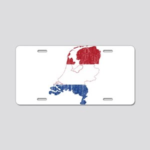 Netherlands Flag And Map Aluminum License Plate
