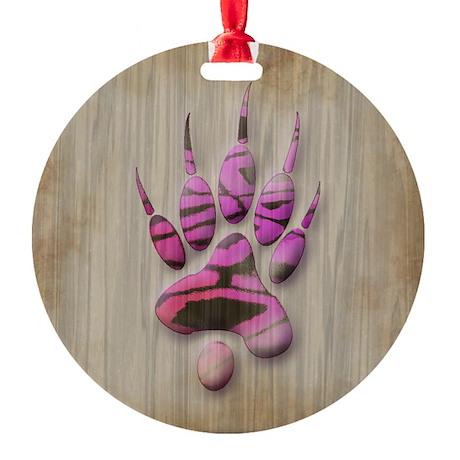 Ferret Paw Ornament (Round)