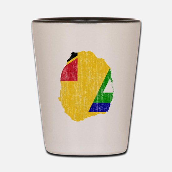 Nevis Flag And Map Shot Glass