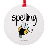 Spelling bee Round Ornament