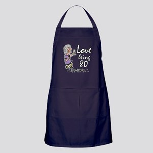 Love Being 80 Party Lady Apron (dark)