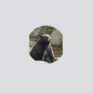 Black Bear Sitting Mini Button