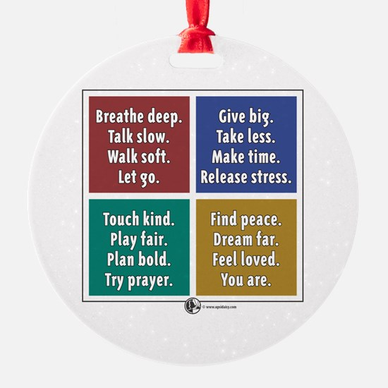 Breathe Ornament (Round)