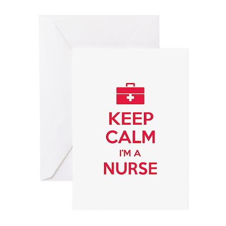 Keep calm I'm a nurse Greeting Cards (Pk of 10)