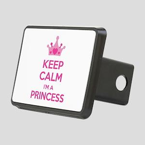 Keep calm I'm a princess Rectangular Hitch Cover