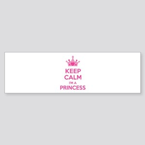 Keep calm I'm a princess Sticker (Bumper)