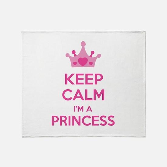 Keep calm I'm a princess Throw Blanket