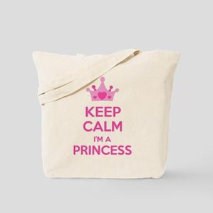 Keep calm I'm a princess Tote Bag
