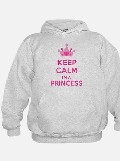 Keep calm I'm a princess Hoody