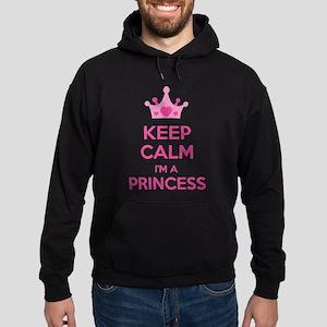 Keep calm I'm a princess Hoodie (dark)