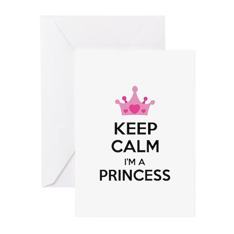Keep calm I'm a princess Greeting Cards (Pk of 10)