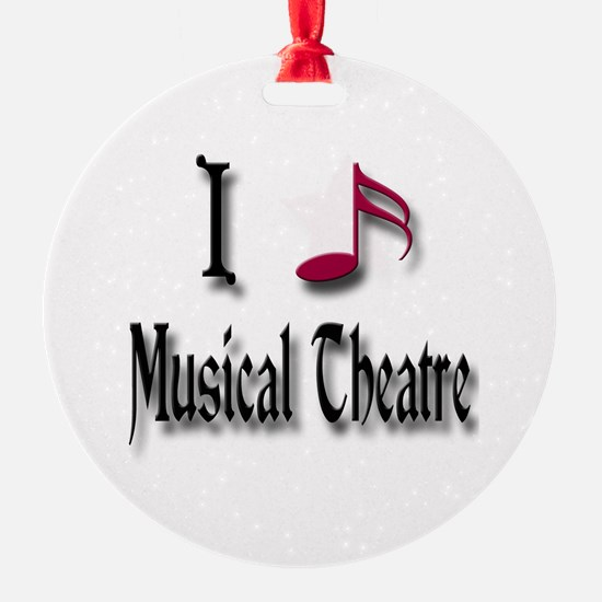 Love Musical Theatre Ornament (Round)