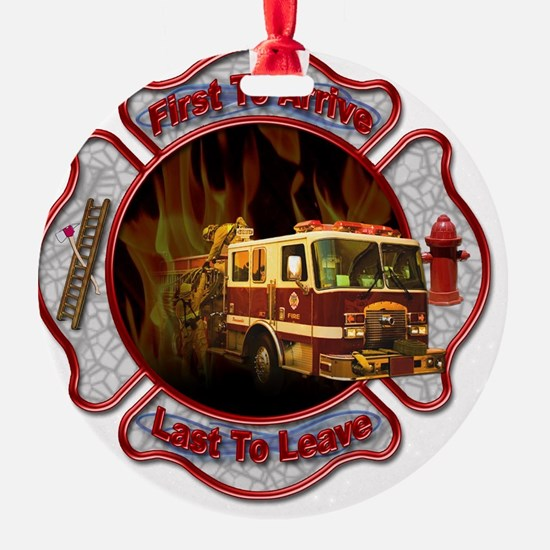 FireFighter Ornament (Round)