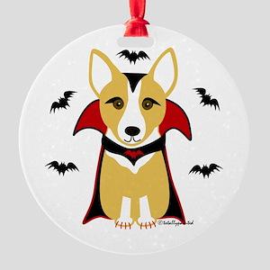 Count Corgi - Vampire Ornament (Round)