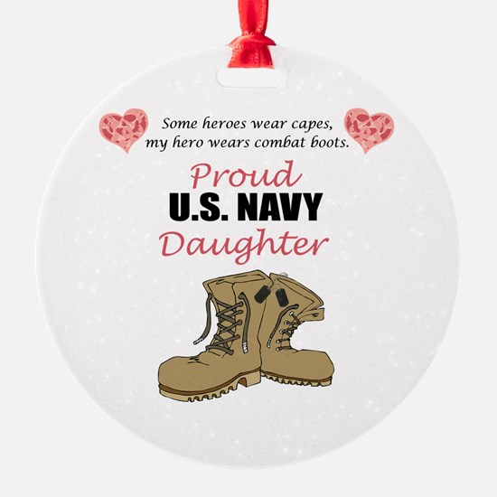 US Navy Daughter Ornament (Round)