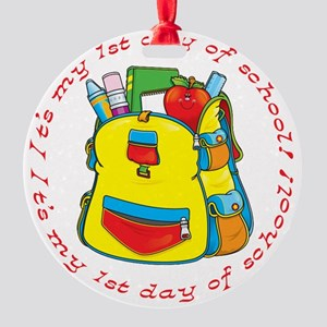 First 1st Day of School Ornament (Round)