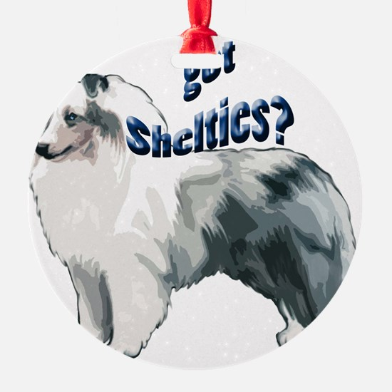 Blue Merle Shelty Ornament (Round)