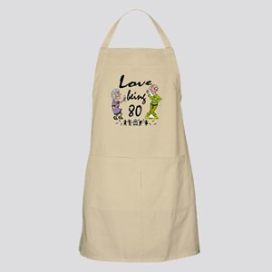 Love Being 80 Couple Apron