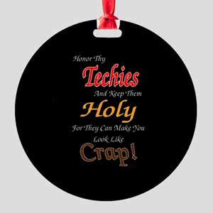 Holy Techies Ornament (Round)
