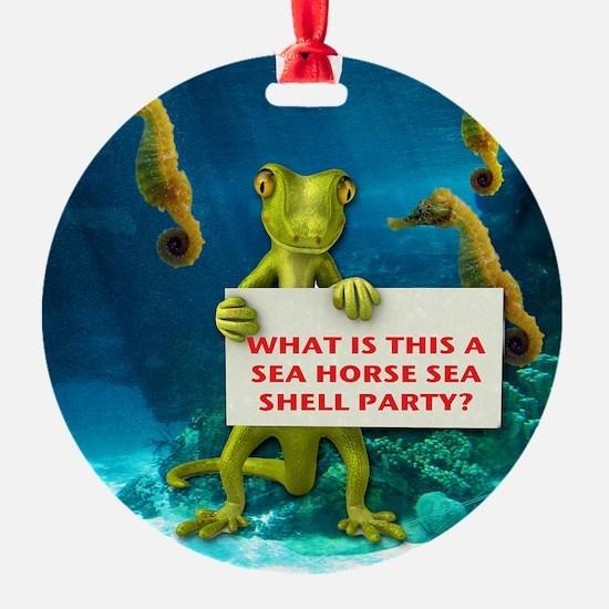 Sea Horse Sea Shell Ornament (Round)