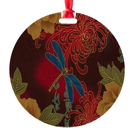 The Blue Dragonfly Ornament (Round)