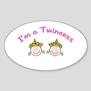 I'm a Twincess Oval Sticker