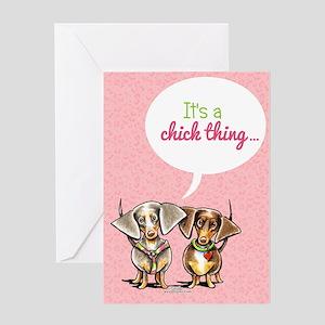 Dachshund Girls Only Invitation Greeting Card