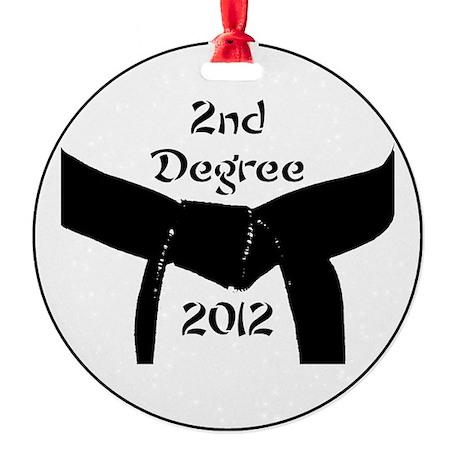 2nd Degree Black Belt Ornament (Round)