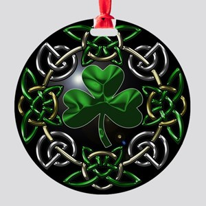 St. Patrick's Day Celtic Knot Ornament (Round)
